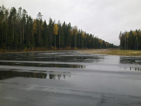 Осенний дождь застал нас в парке Русский Север