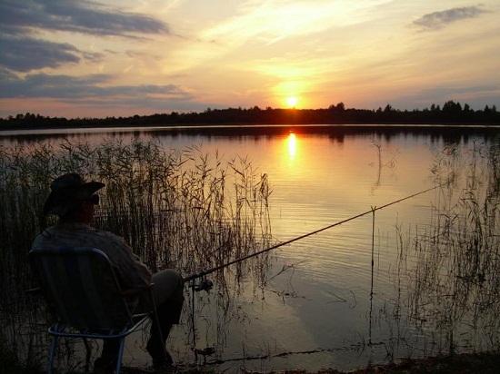 Закат на Никольском озере