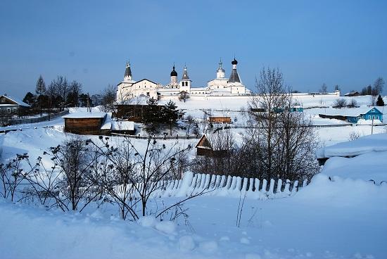 Ферапонтово - зимний пейзаж в парке Русский Север