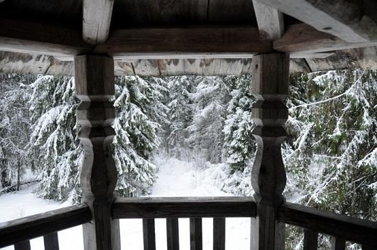 Гора Маура, Вологодская область, НП Русский Север, зима