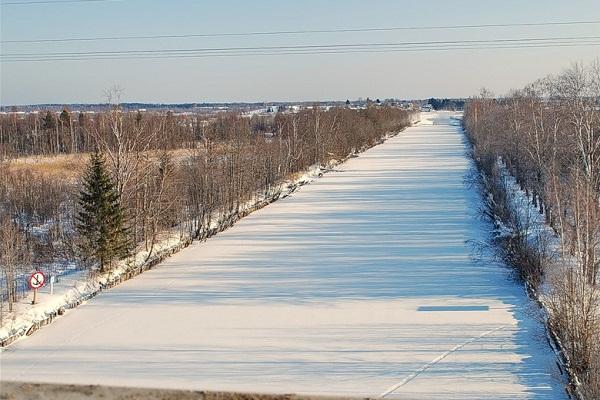 Кишемский канал зимой