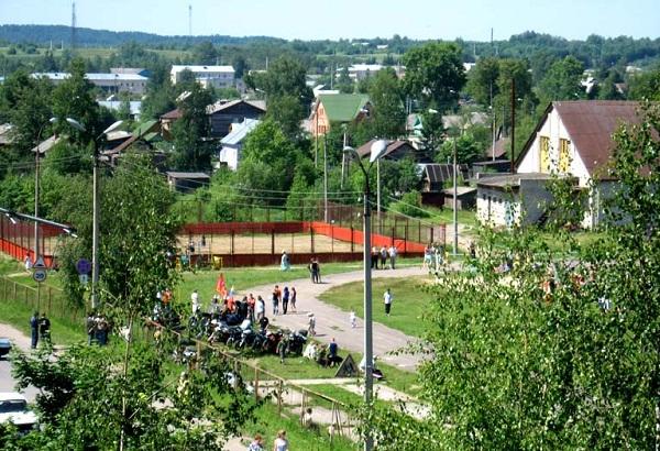 Стадион в городе Кириллов