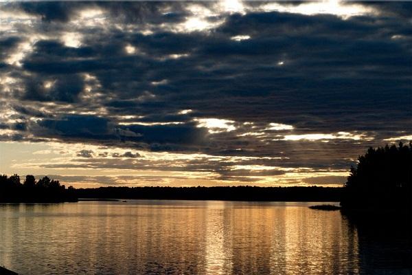 Вечер на Бородаевском озере