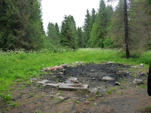 Деревянная часовня сгорела дотла